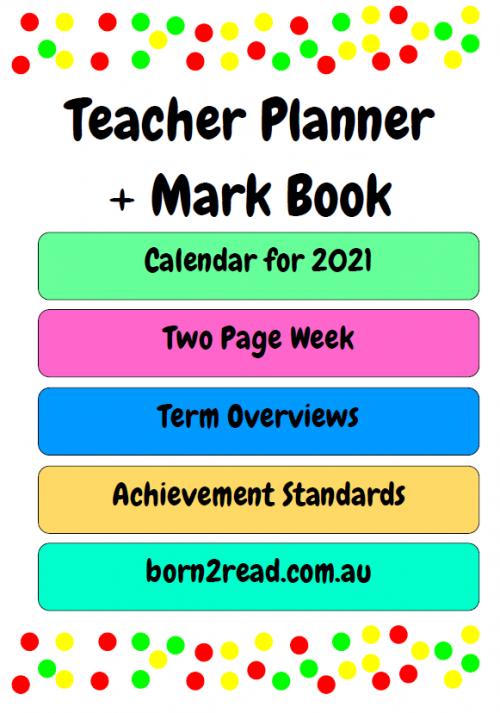 Teacher Planner and Mark Book